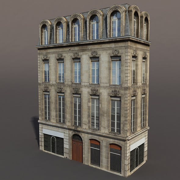 Apartment House #86 Low poly 3d Model