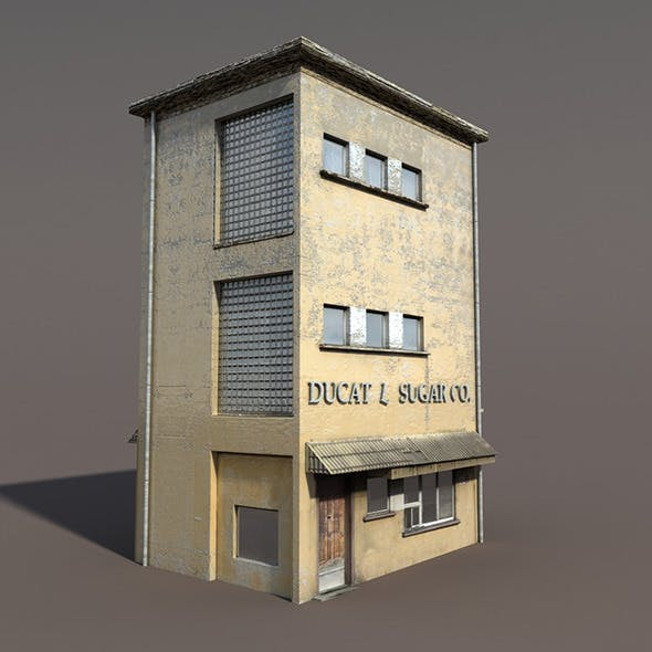 Apartment House #90 Low poly 3d Model