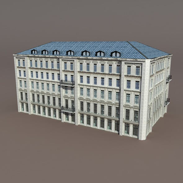 Apartment House #92 Low Poly 3d Model - 3DOcean Item for Sale