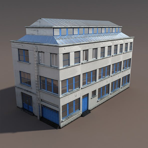 Factory #93 Low Poly 3d Model