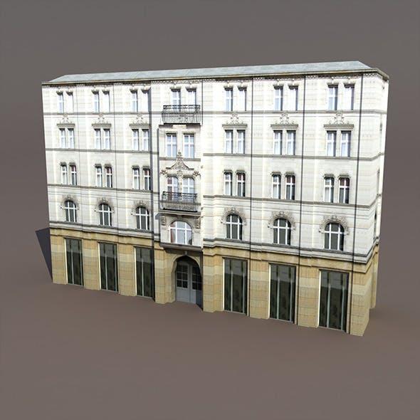 Aparment House #94 Low Poly 3d Model