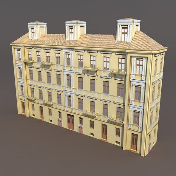 Apartment House #98 Low Poly 3d model - 3DOcean Item for Sale
