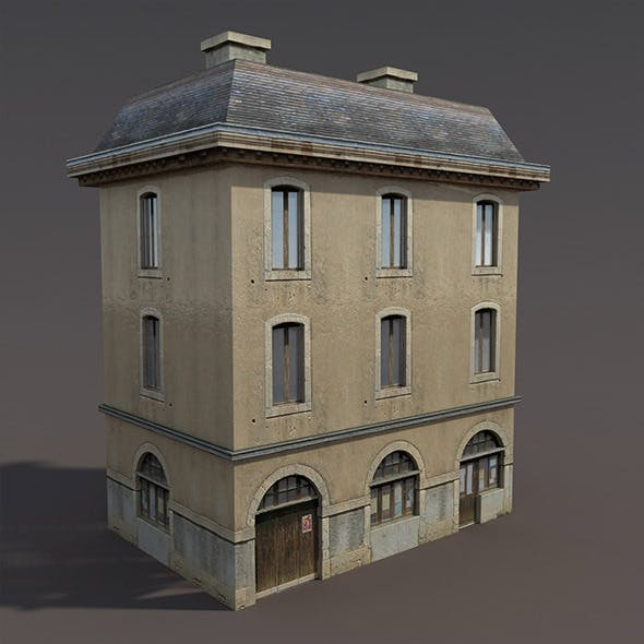 Apartment House #99 Low poly 3d Model - 3DOcean Item for Sale