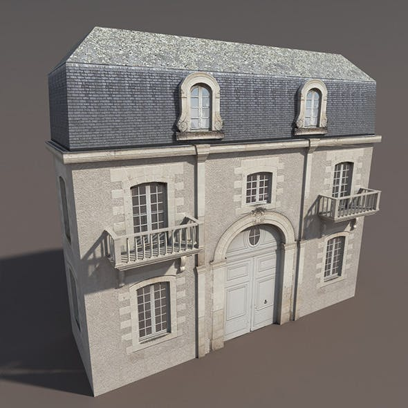 Apartment House #103 Low poly 3d Model - 3DOcean Item for Sale
