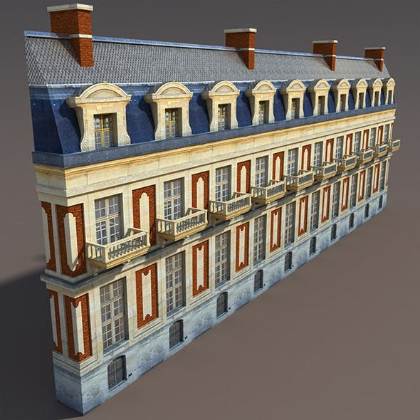 Apartment House #104 Low Poly 3d Model - 3DOcean Item for Sale
