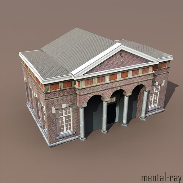 Apartment House #105 Low Poly 3d Model