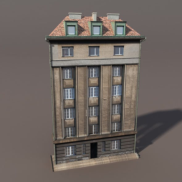 Apartment House #109 Low Poly 3d Model