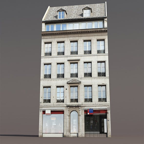 Apartment House #111 Low poly 3d Model1