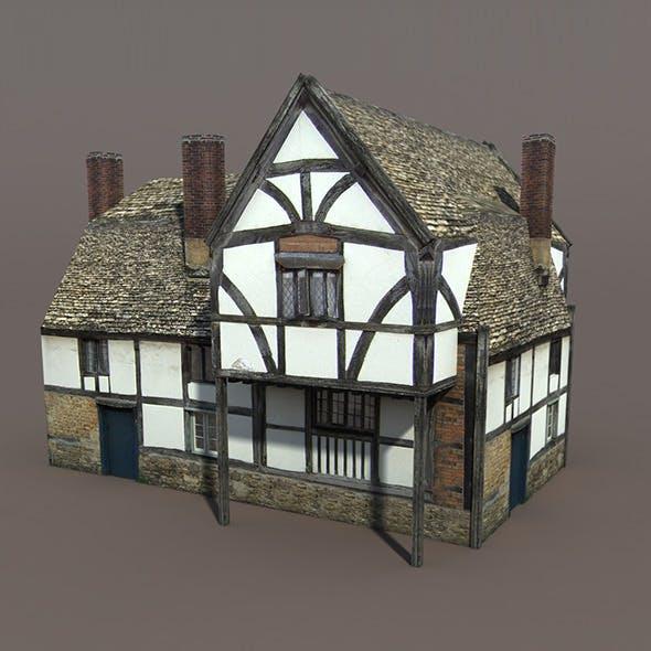 Medieval Building #112 Low poly 3d Model
