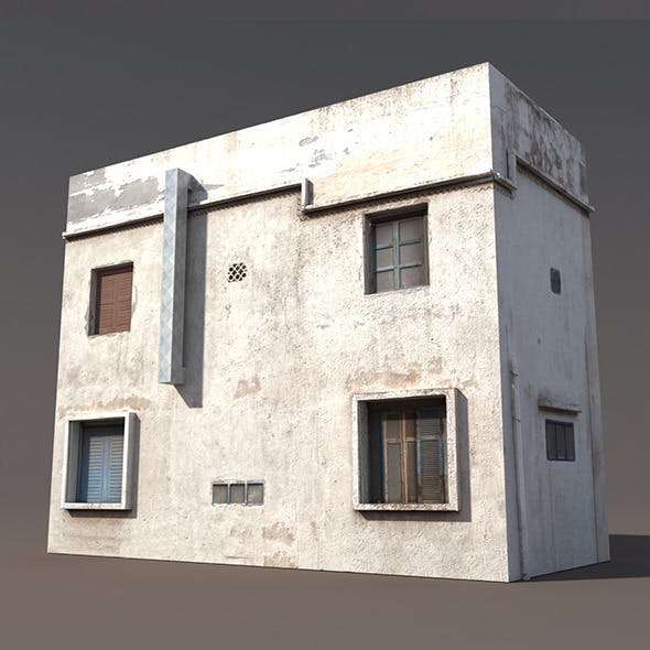 Derelict Building Low poly 3d Model - 3DOcean Item for Sale