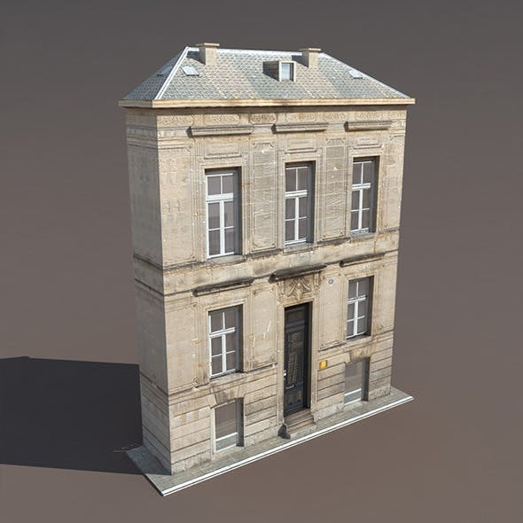 Apartment House #119 Low Poly 3d Model - 3DOcean Item for Sale