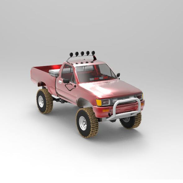 Concept Car Toyota Pickup Fire POV