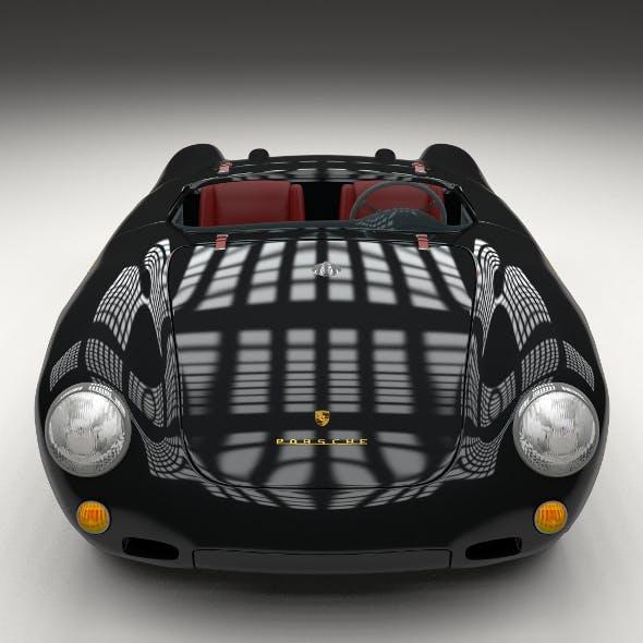Porsche 550 Spyder black