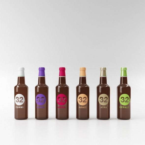 beer bottle collection C4D + vray