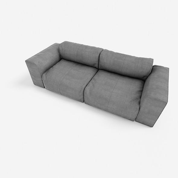 sofa 2seats #01  - 3DOcean Item for Sale