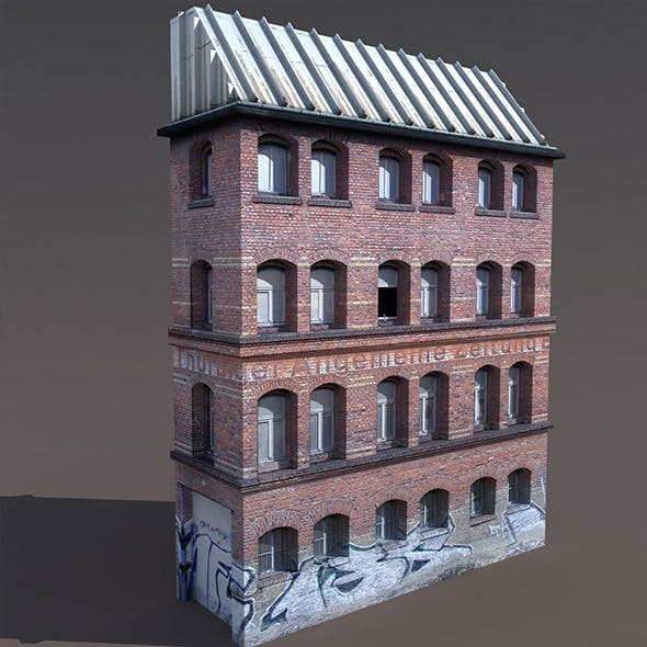 Old Factory #125 Low poly 3d Model