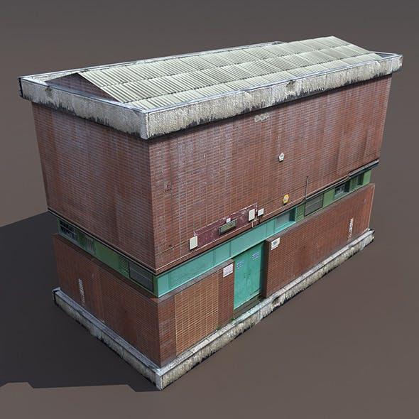 Factory Low poly 3d Building