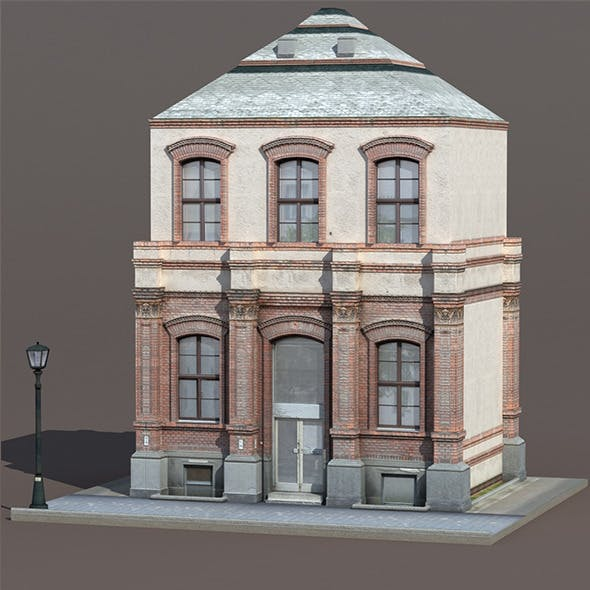 Apartment House #131 Low poly 3d Model - 3DOcean Item for Sale