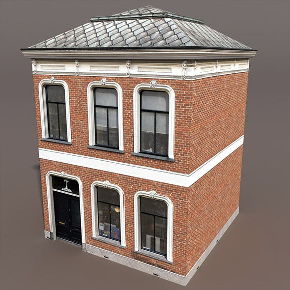 Apartment House #130 Low Poly 3d Model - 3DOcean Item for Sale