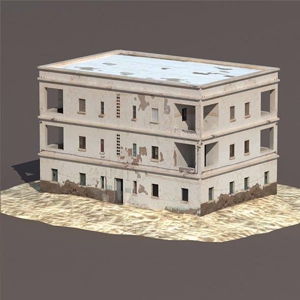 Derelict House #132 Low Poly 3d Model - 3DOcean Item for Sale