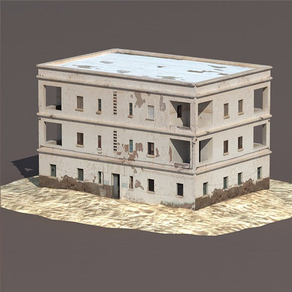 Derelict House #132 Low Poly 3d Model
