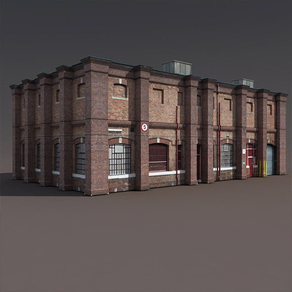 Old Factory Low Poly 3d Building
