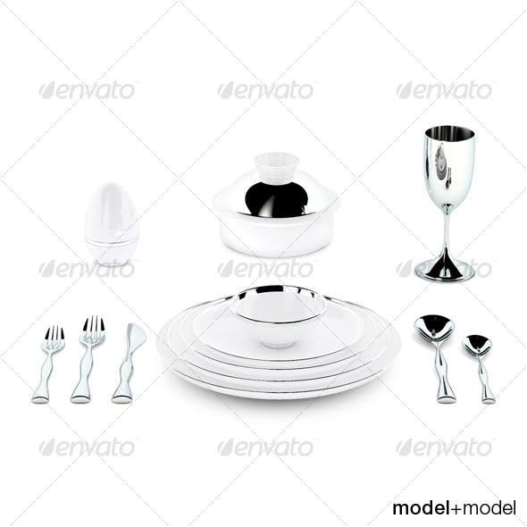 Sieger My china Treasure dinnerware - 3DOcean Item for Sale