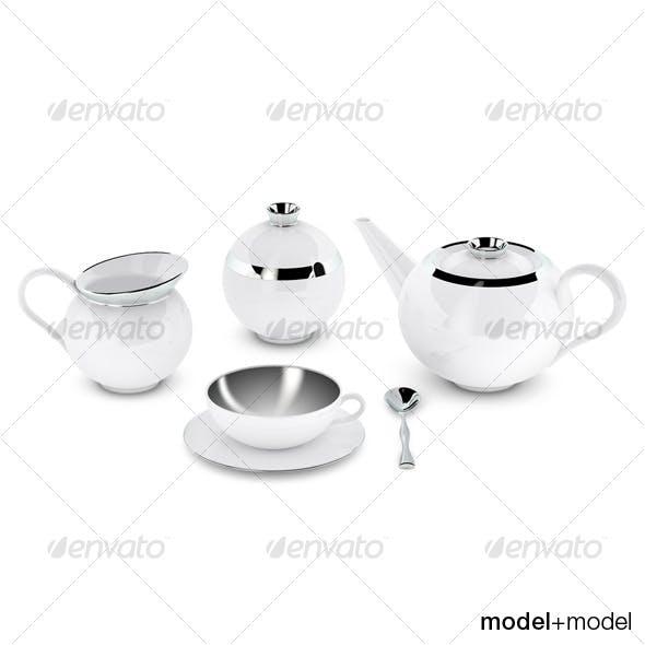 Sieger My china Treasure tea set - 3DOcean Item for Sale