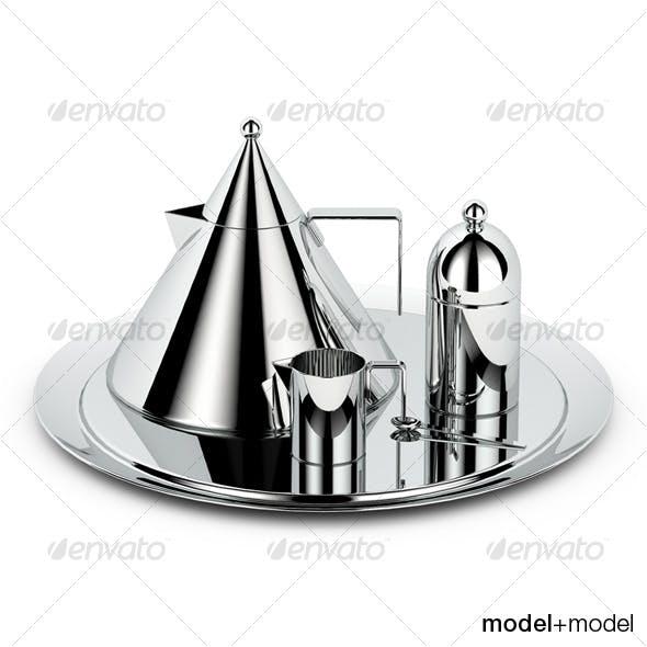Alessi il conico tea set - 3DOcean Item for Sale