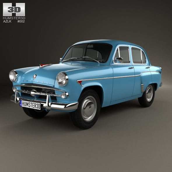 AZLK Moskvitch 402 1956 - 3DOcean Item for Sale