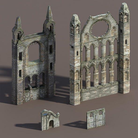 Castle Ruin Pack Low poly 3d Model - 3DOcean Item for Sale