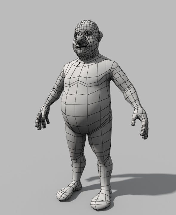 Base Mesh Fat Stylized Man - 3DOcean Item for Sale