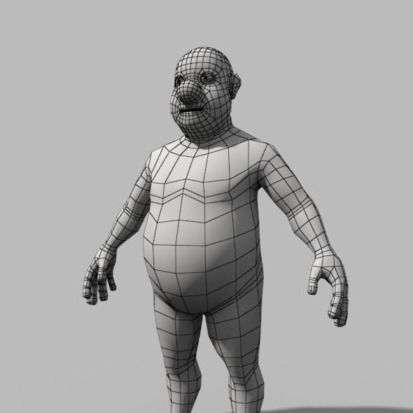 Base Mesh Fat Stylized Man