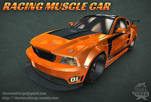 Racing Muscle Car - 3DOcean Item for Sale
