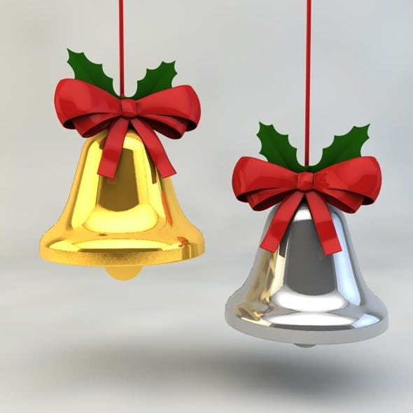 Christmas Bell with Ribbon - 3DOcean Item for Sale