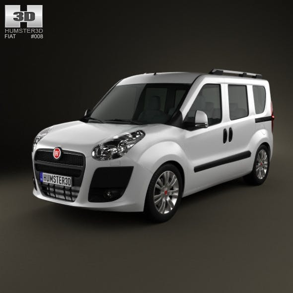 Fiat Nuovo Doblo Combi 2011 - 3DOcean Item for Sale