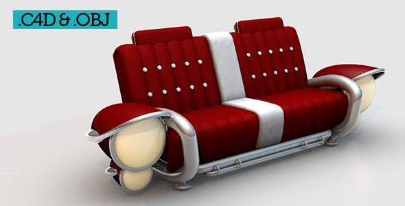 Classic Vintage Car Sofa - 3DOcean Item for Sale