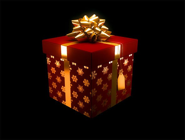 Christmas Present / Gift Box - 3DOcean Item for Sale