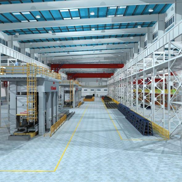 Factory Interior Scene - 3DOcean Item for Sale