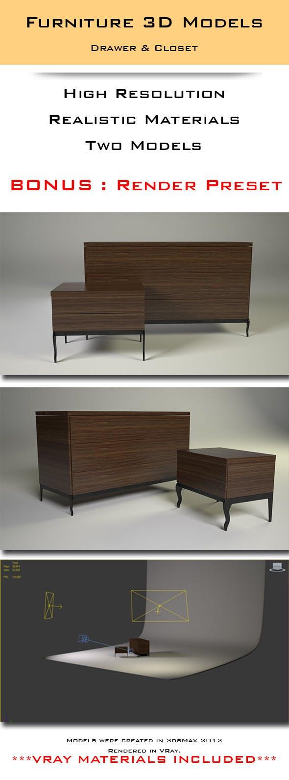 Closet & Drawer - 3DOcean Item for Sale