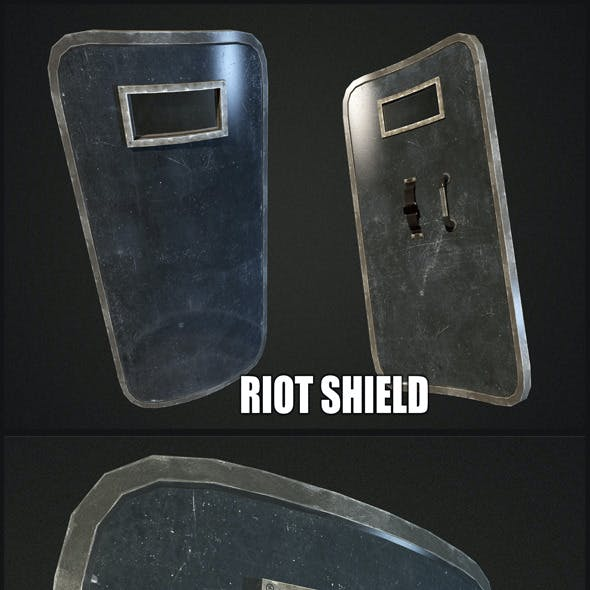 Riot Shield - Low Poly