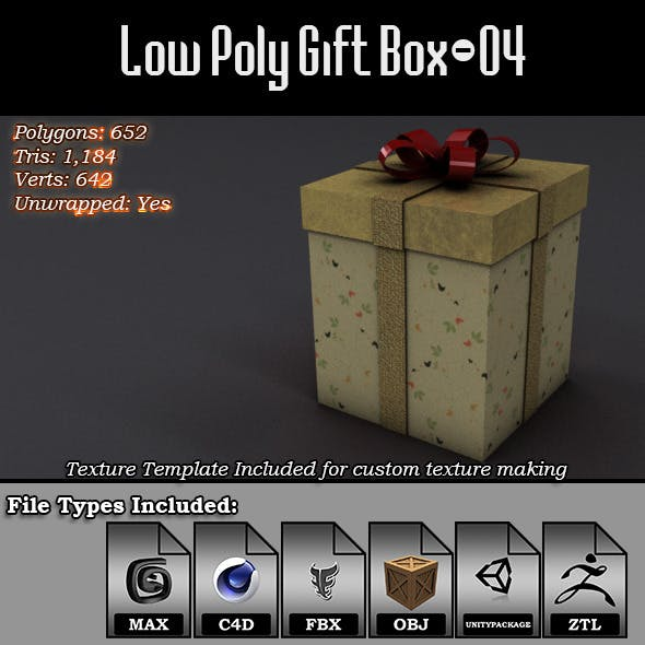 Low Poly Gift Box - 04
