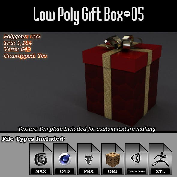 Low Poly Gift Box - 05