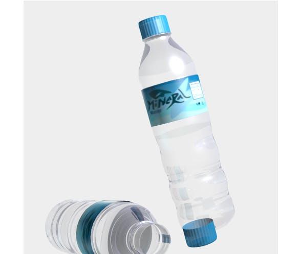 mineral water bottle - 3DOcean Item for Sale