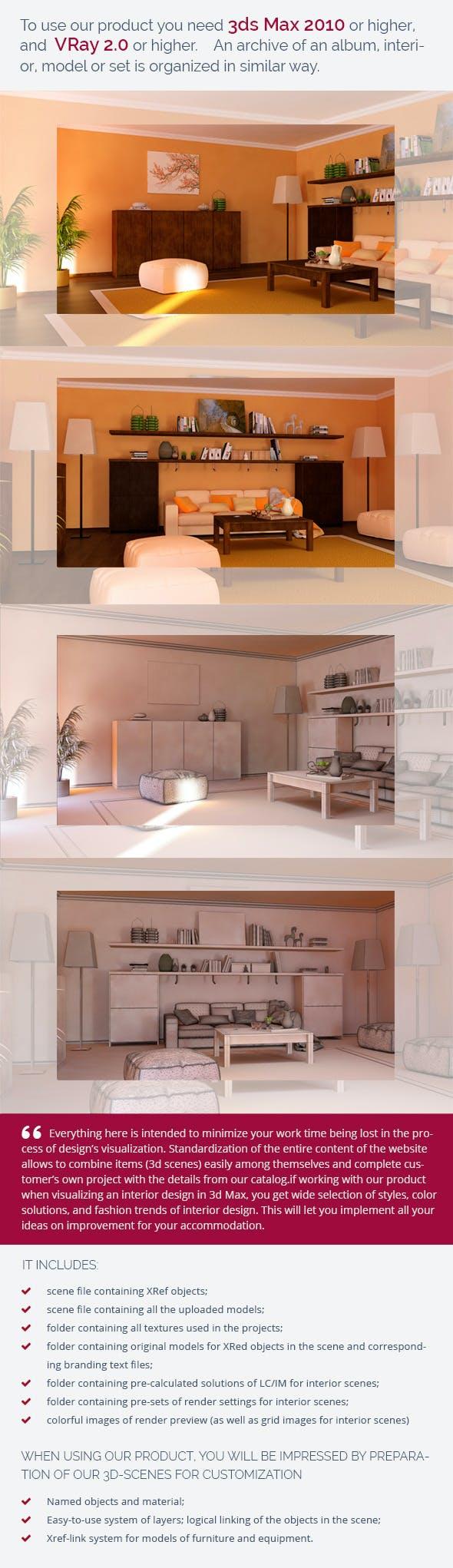 Living Room 0444.2 - 3DOcean Item for Sale