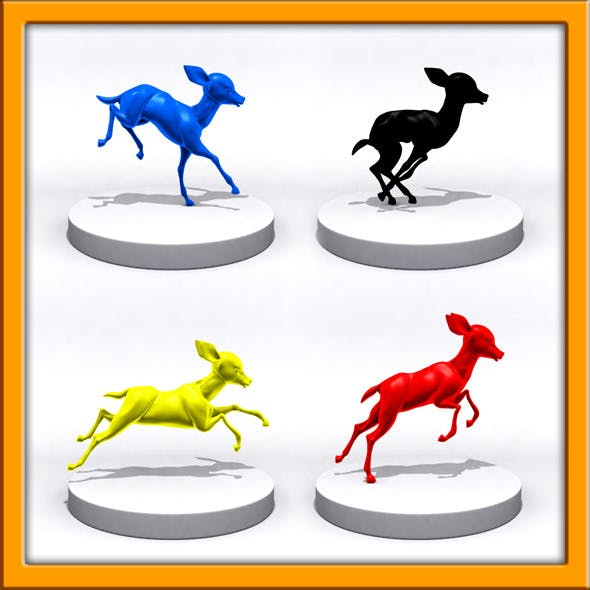 Cartoon fawn 3D Printing - 3DOcean Item for Sale