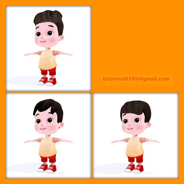 Cartoon Boy - 3DOcean Item for Sale