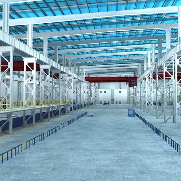Factory Interior Scene 01 - 3DOcean Item for Sale