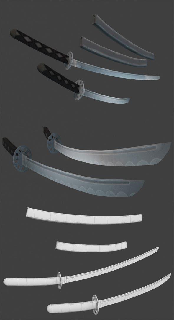 Samurai Swords - 3DOcean Item for Sale