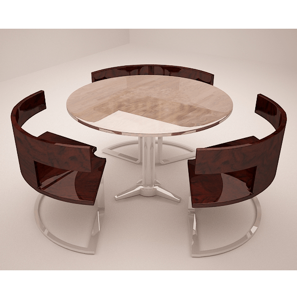 Round Table - 3DOcean Item for Sale